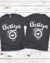 Front Back Gildan 500 Charcoal Unisex Tshirt Mockupt Shirt Etsy
