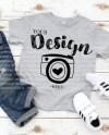 Kids T Shirt Mockup Bella Canvas 3001t T Shirt Jersey Unisex Etsy
