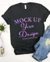 Bella Canvas 3001 Black Unisex T Shirt Mock Up T Shirt Mock Etsy