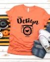 Bella Canvas 3001 Heather Orange Unisex T Shirt Mock Up Orange Etsy