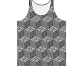 Sayagata #4 - Grayscales Unisex AOP Tank Top