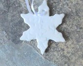 Lacy, ceramic snowflake- ...