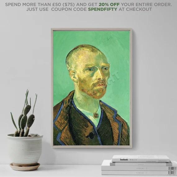 Vincent Van Gogh Selbstportrat Gewidmet Paul Gauguin Etsy