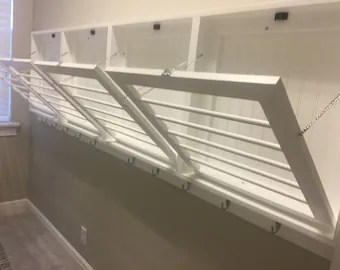 wall mounted drying racks and benches