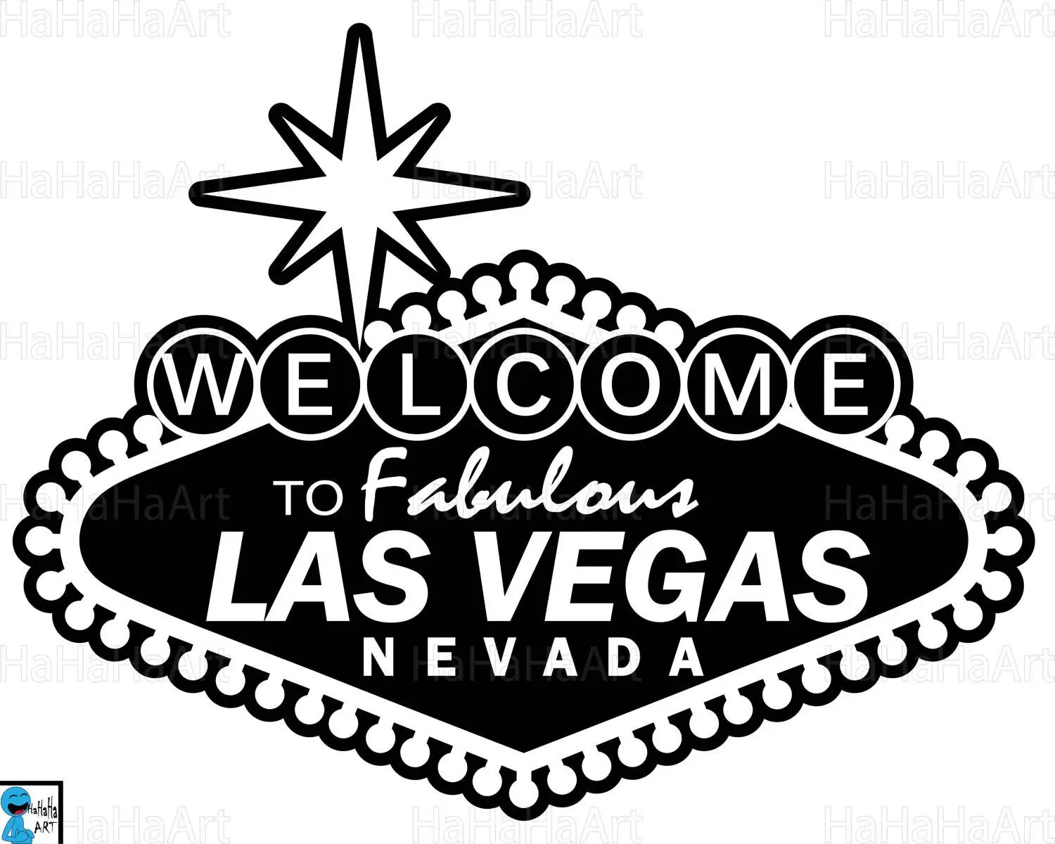 Las Vegas Sign Clipart Cutting Files Svg Dxf