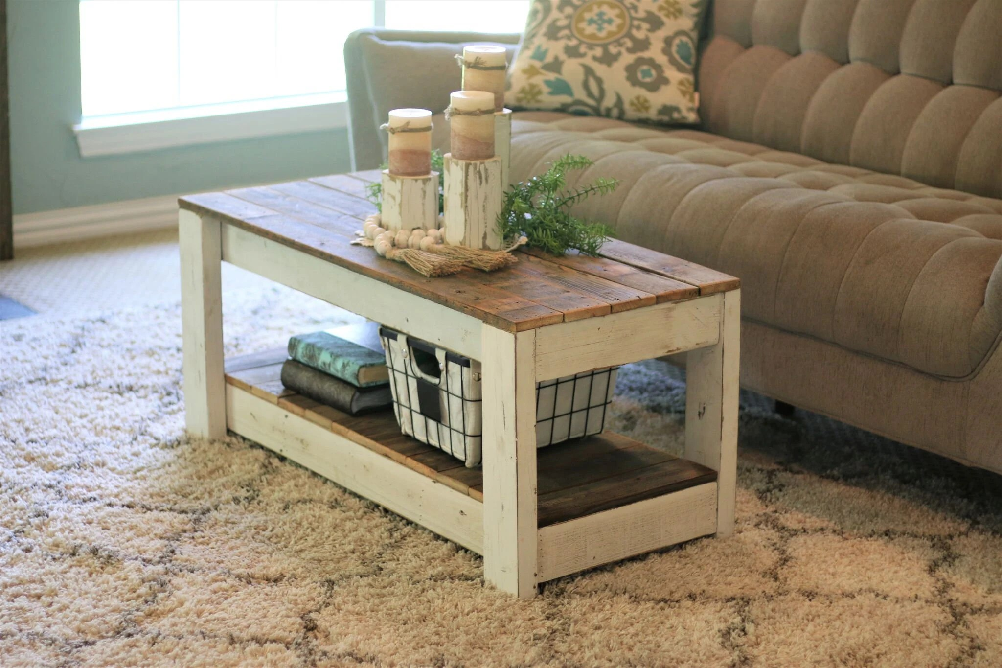 country coffee table etsy