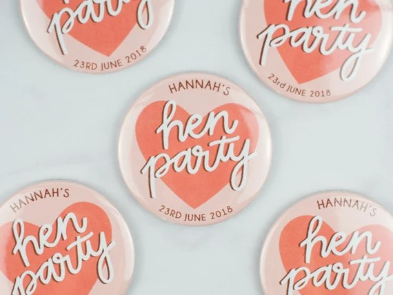 Personalised Hen Party Mirror