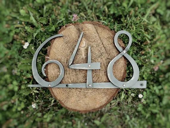 numero de maison en fer forge forge a la main plaque de maison en metal