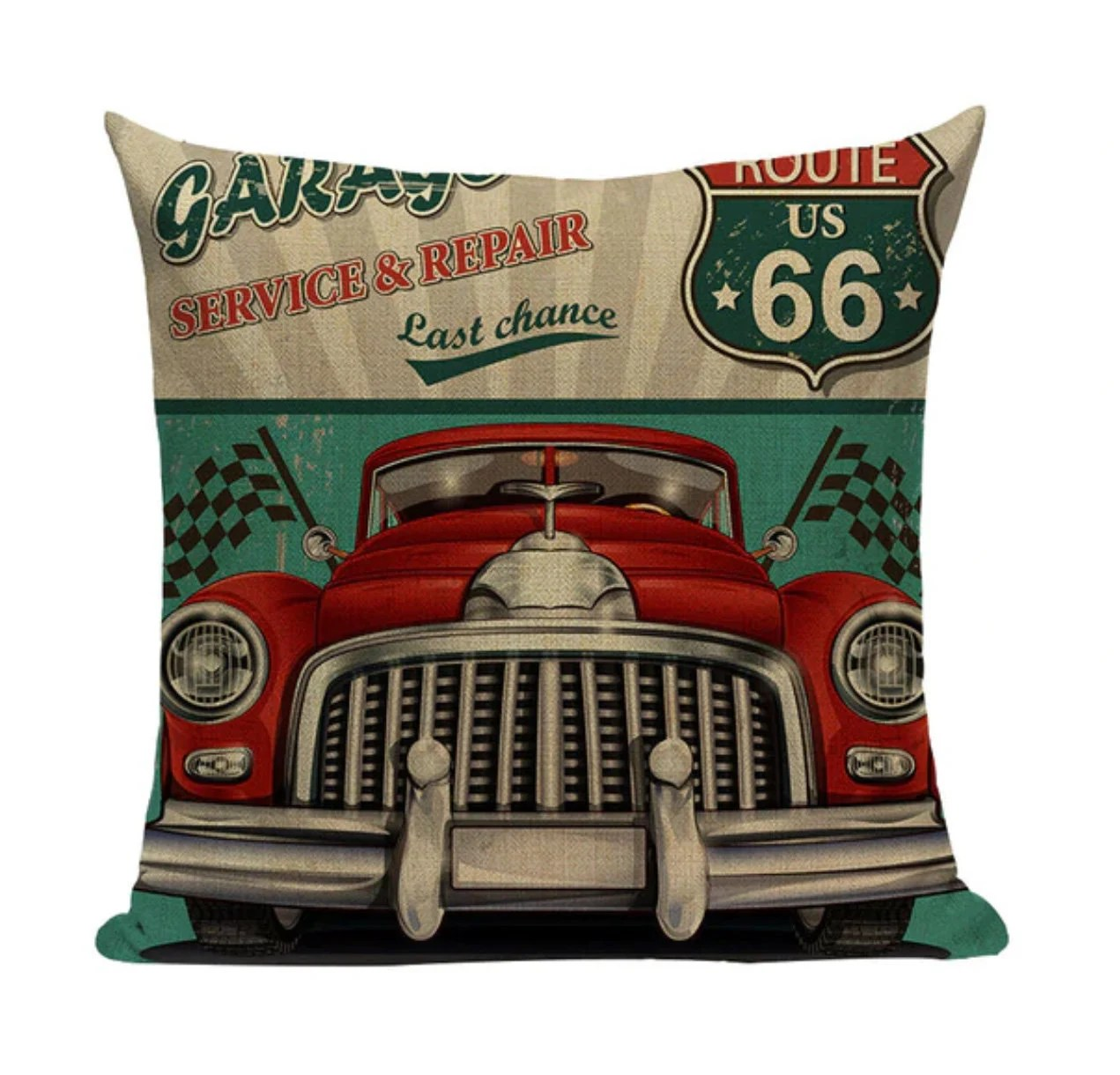 vintage car pillow etsy