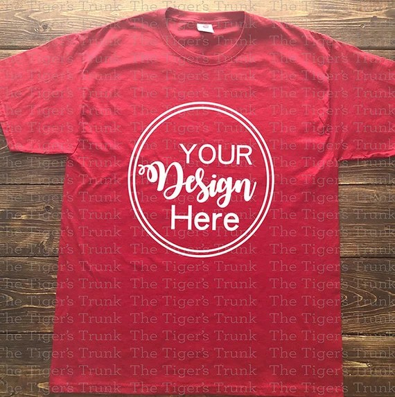Download Red T Shirt Mockup Psd Free Yellowimages
