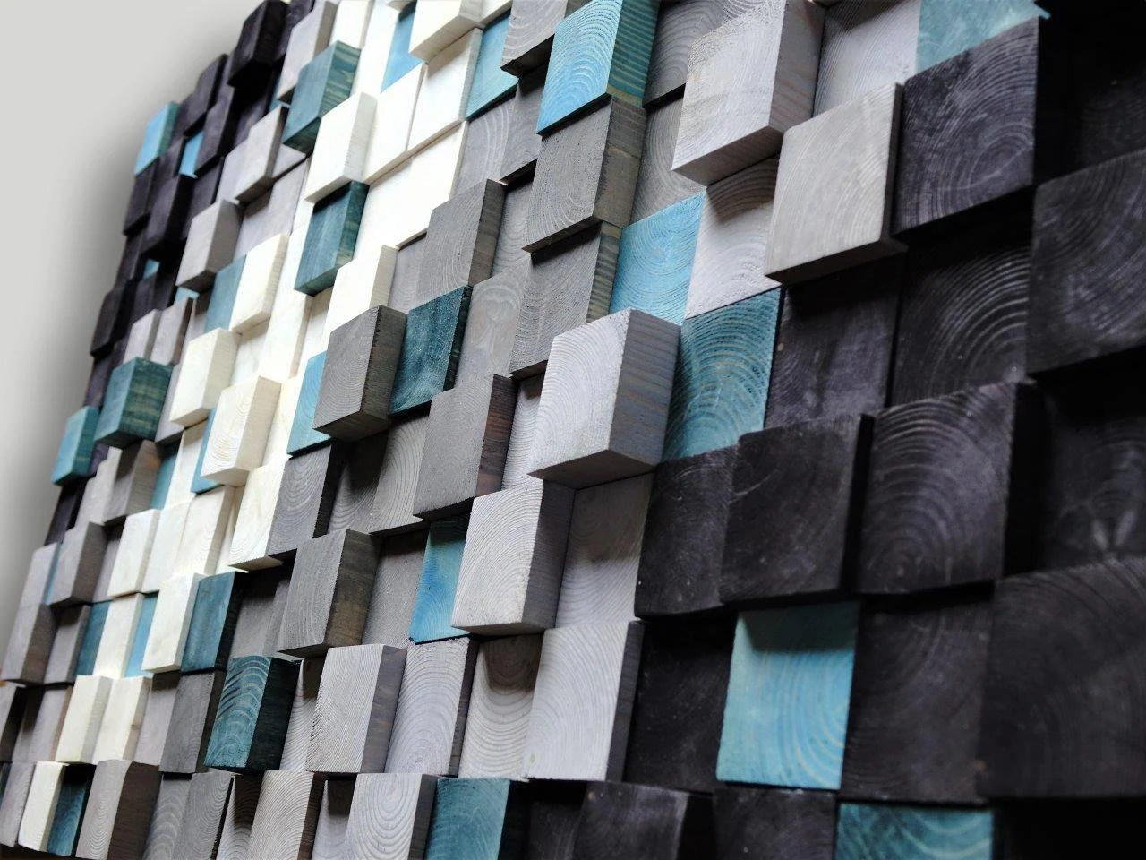 Wooden Wall Art, Textured Wooden Wall Art, Mosaic Wall