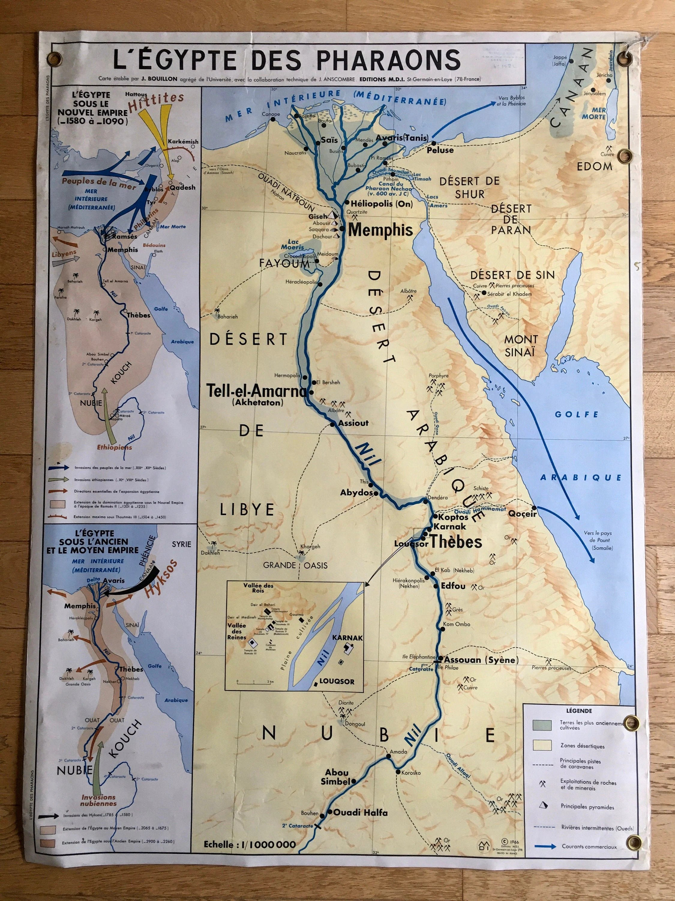 Ancient Double Sided Geography Map