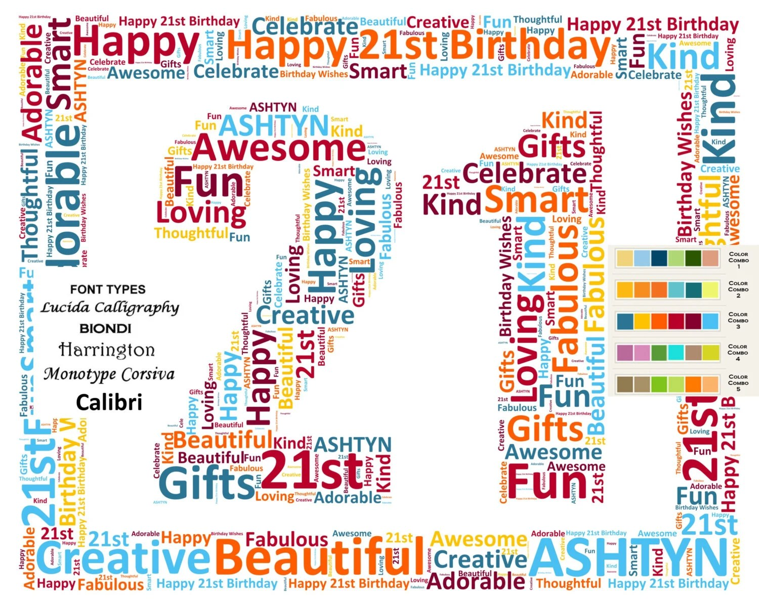 21st Birthday Gifts 21 Gifts Daughter Son Gift For Her Etsy