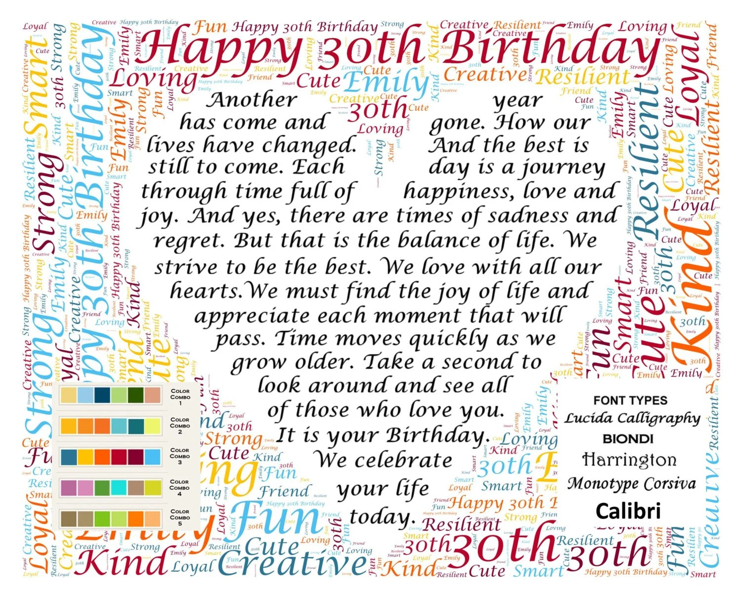 30th Birthday Gifts Thirty Gift For Her Him Daughter Son Etsy