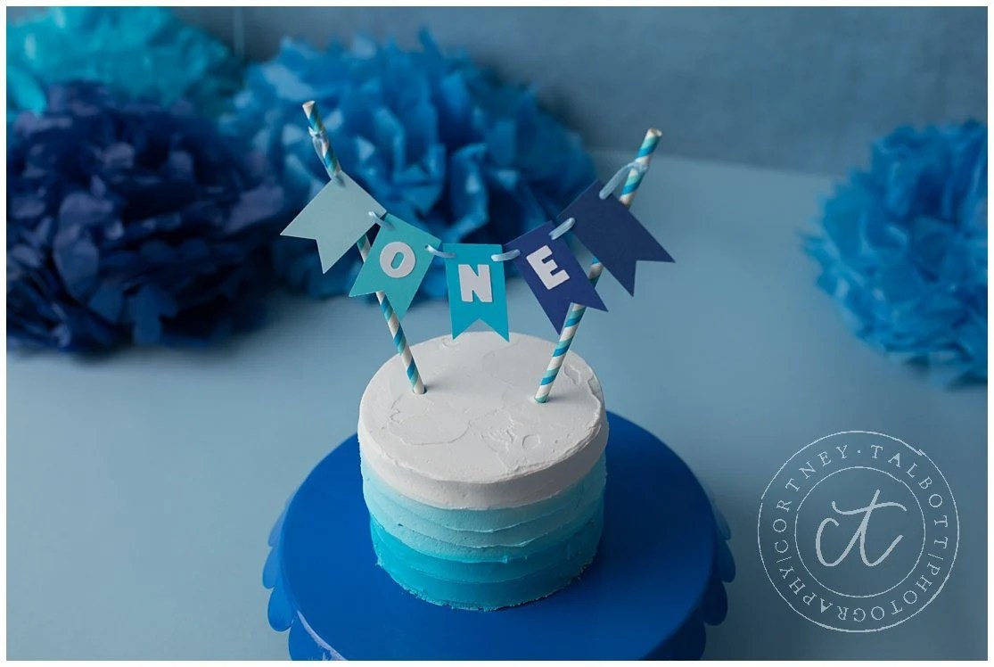 Boy First Birthday Decorations One Cake Topper Blue Smash Cake Topper Blue Ombre Party Decorations Boy Cake Topper Boy Cake Bunting By Tickled Glitzy Boutique Catch My Party