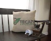 Handmade Coffee Sack Pillow, Upcycled, El Salvador, Porch, Couch, Chair, Rustic, Hand Made Pillow,