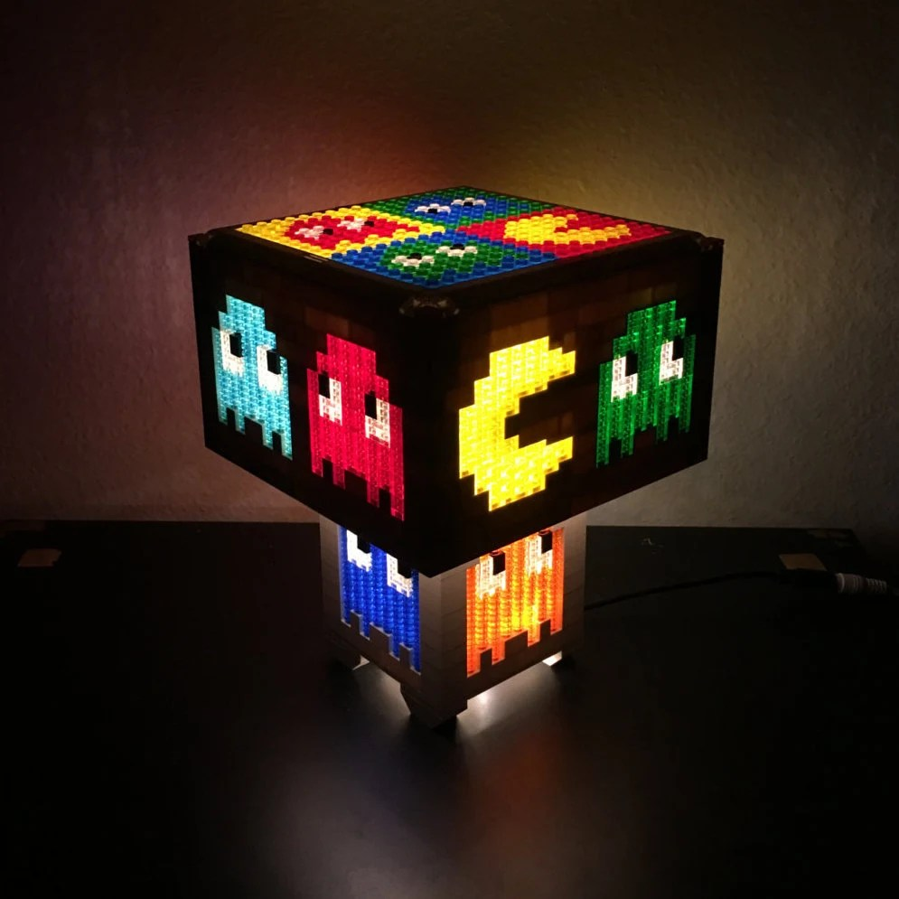 Lego night light   Etsy Pacman LEGO LED Lamp