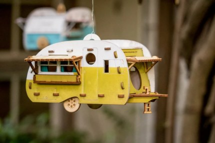 Paintable Camper Bird House playset you can snap together and image 0