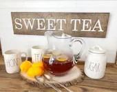 Sweet Tea Wood Engraved S...