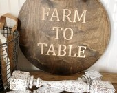 Farm To Table Wood Round ...