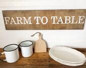 Farm To Table Wood Engrav...