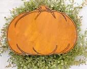 Wood Engraved Fall Pumpki...