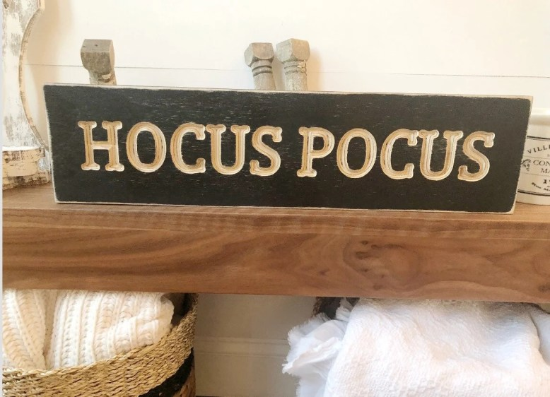 Hocus Pocus Wood Engraved...