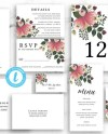 Floral Wedding Invitation Suite Envelope Address Set Pink Etsy
