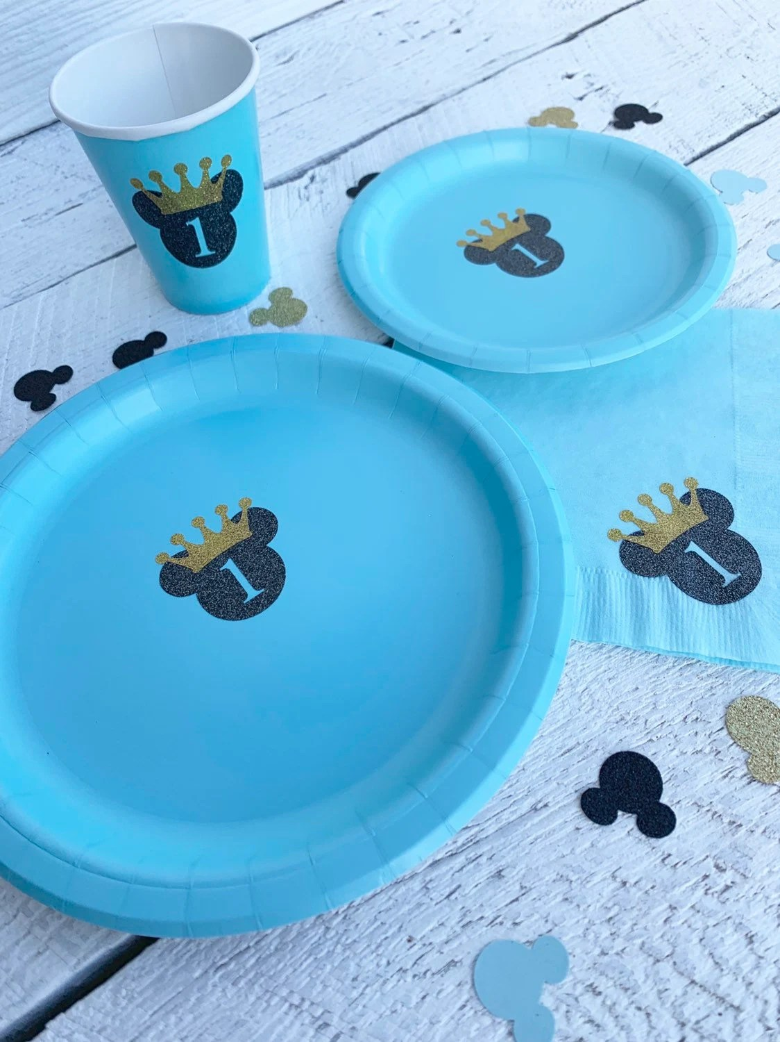 Prince Mickey Mouse 1st Birthday Party King Mickey Mouse Etsy