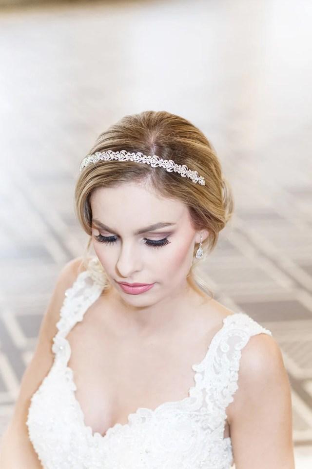 bridal headband, swarovski crystal rhinestone wedding headband, bridal wedding hair accessories, wedding headpiece, mia wedding headband