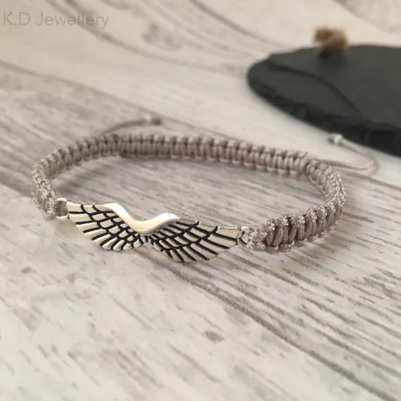 Angel Wing Memorial Bracelet