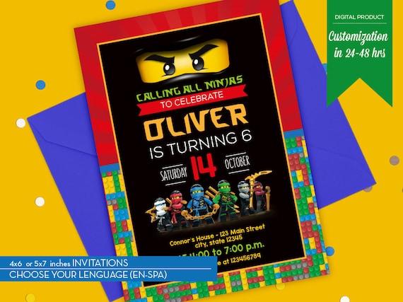 ninjago invitation ninjago party lego ninjago birthday invitation printable