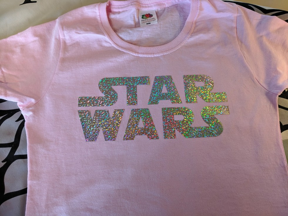 Star Wars - Ladies T-shirt - Sparkle Print