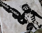 Rocket Raccoon - Guardians of the Galaxy -  Trash Panda printed Tee Shirt