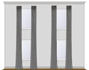 two story drapes etsy