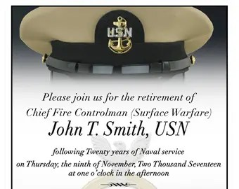 Chief Petty Officer Invitation