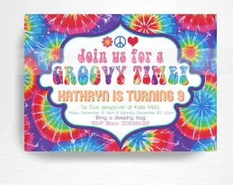 Tie Dye Roller Skate Birthday Party Printable Invitation You