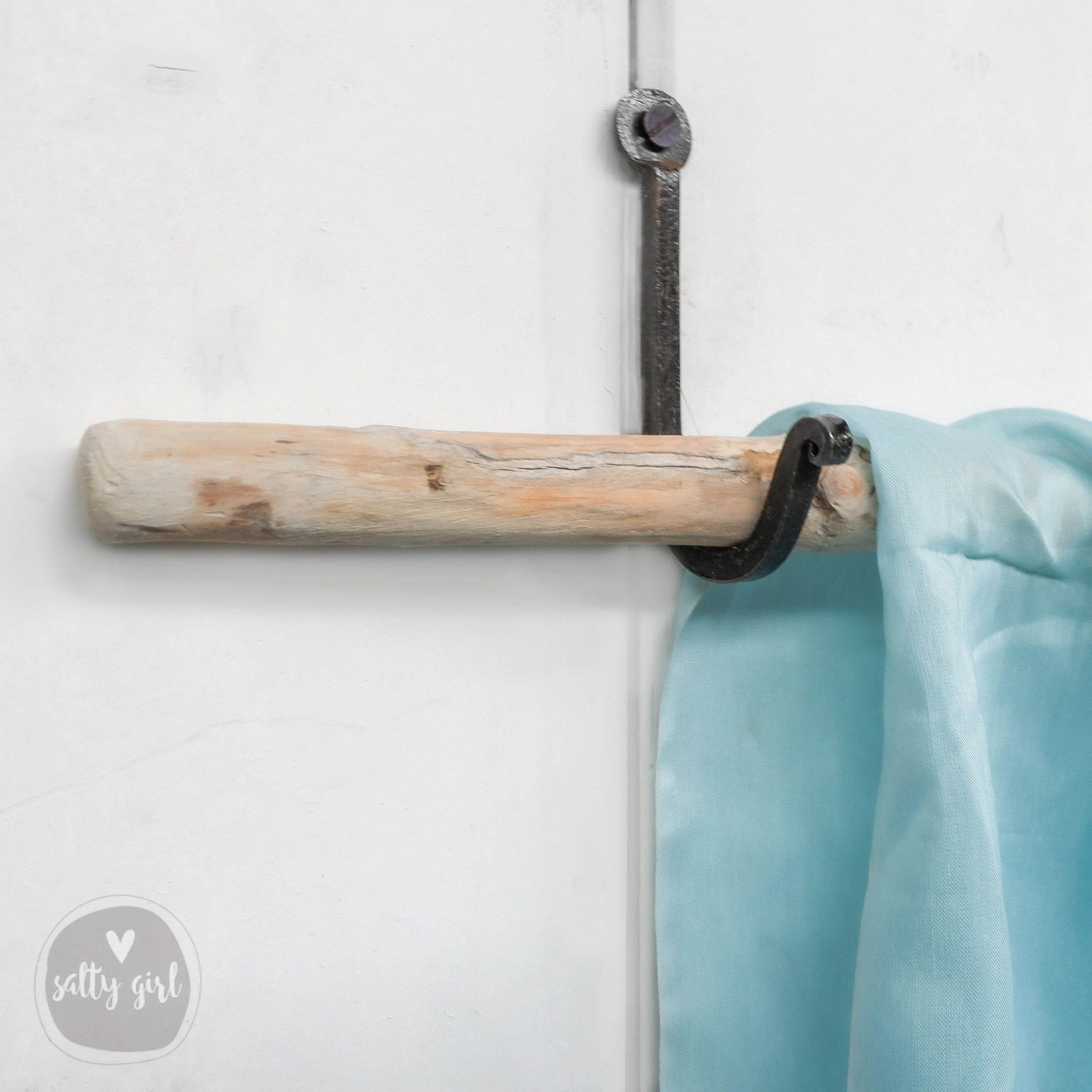 driftwood curtain rods with hand forged iron hangers 2 driftwood branches 24 48 x 3 4 4 hooks home decor curtain rods