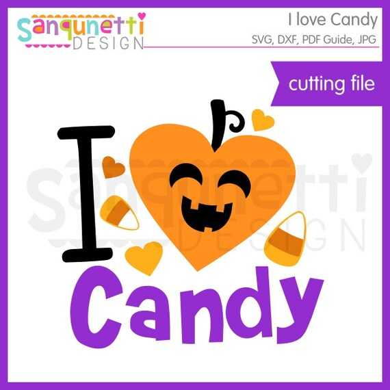 Download I love candy Halloween svg cutting files for silhouette ...