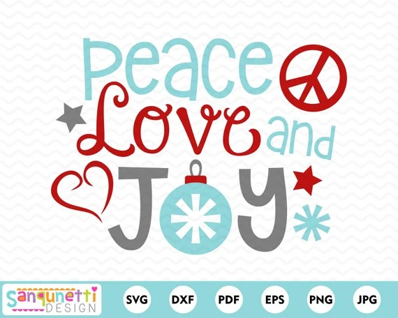 Download Peace love and joy winter christmas svg cutting files for ...