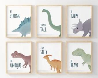 Dinosaur Kids Room Etsy
