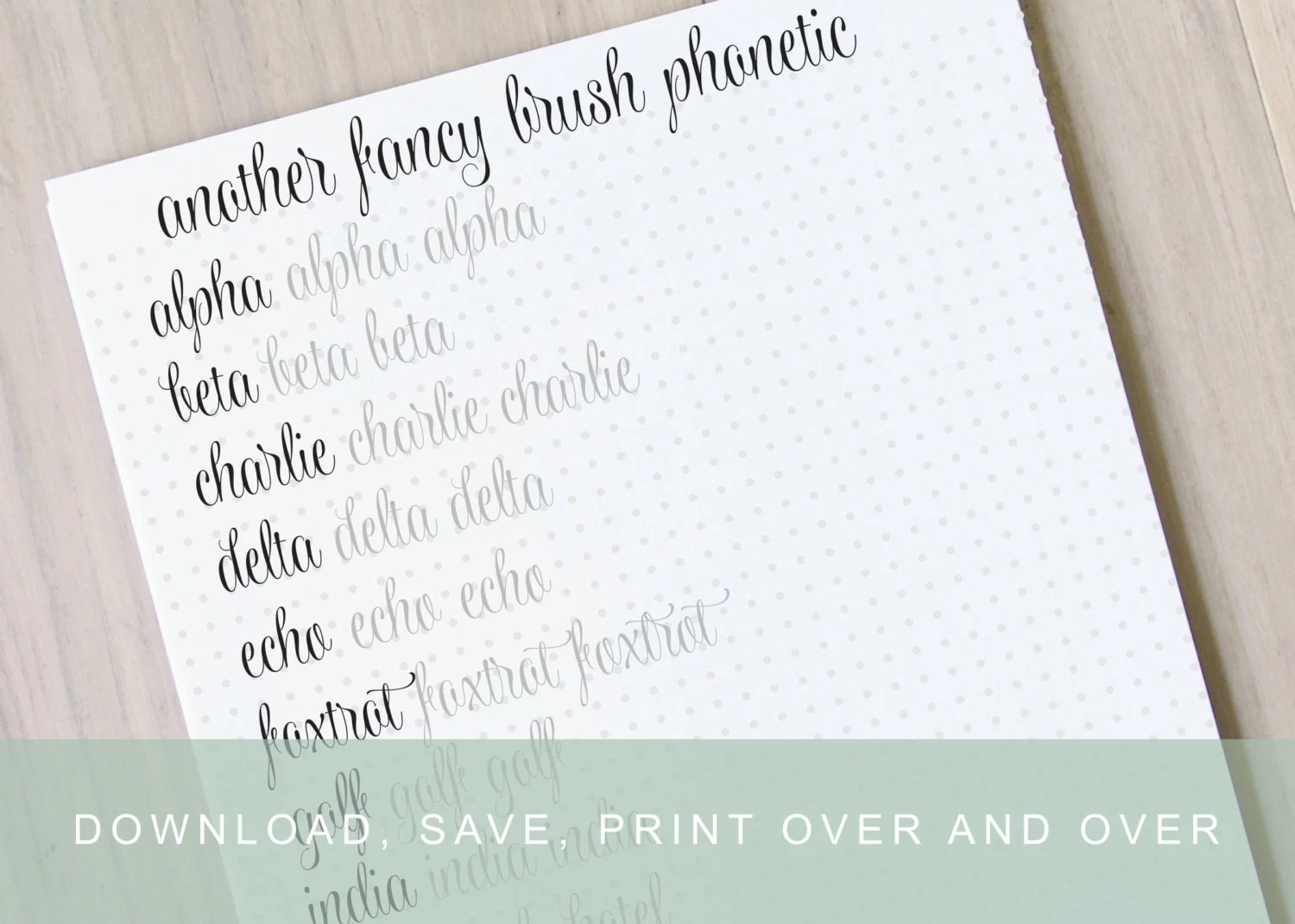 Another Fancy Brush Lettering Worksheet Calligraphy