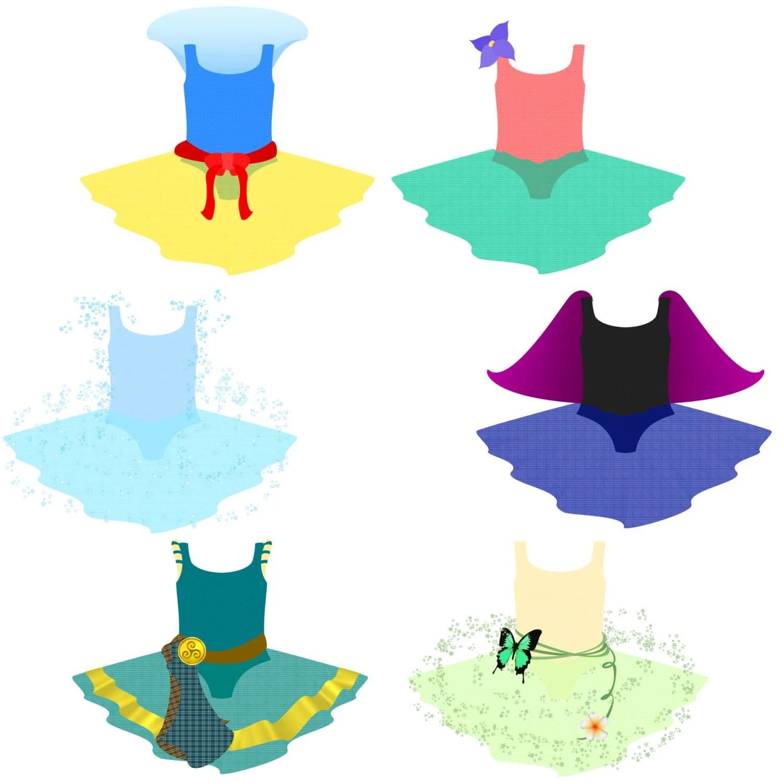 6 Princess Dress Clipart Images Diy Printables Invites