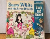 Snow White Vintage Book and Record, Childrens /Disney Snow White / Peter Pan records