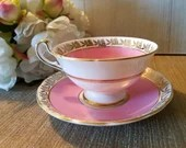 Vintage Salibury Teacup & Saucer / Fine Bone China Made in England