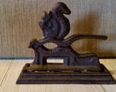 Vintage Cast Iron Squirrel Nutcracker/ French Farmhouse Decor/ Housewarming Gift