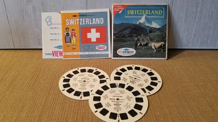 Vintage View Master Film Switzerland Nations of the world series,  3 reel sets Viewmaster Slide/ B185