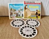 Vintage Viewmaster GAF#A981 Historic StAugustine Florida /Famous Cities Series/ 3 reel Set With Booklet