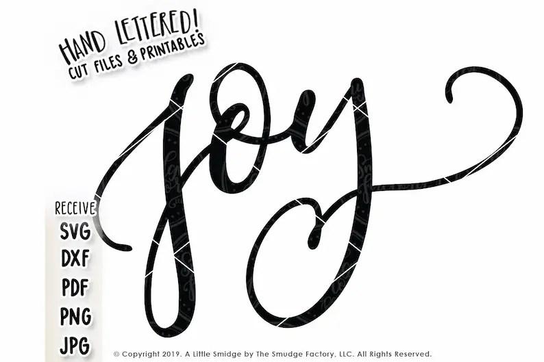 Download Choose Joy SVG Cut File Hand Lettered Vector File ...