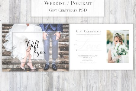Photography Gift Certificate Template PSD for Photoshop   Etsy image 0